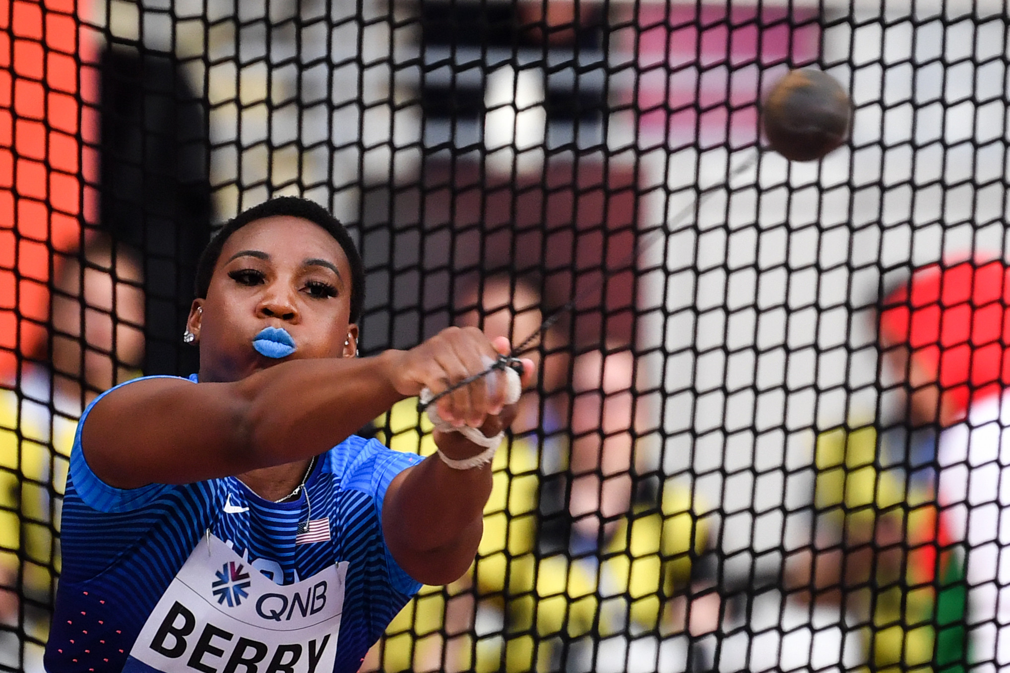 Hammer thrower Gwen Berry accused the USOPC of hypocrisy after the organisation released an anti-racism statement ©Getty Images