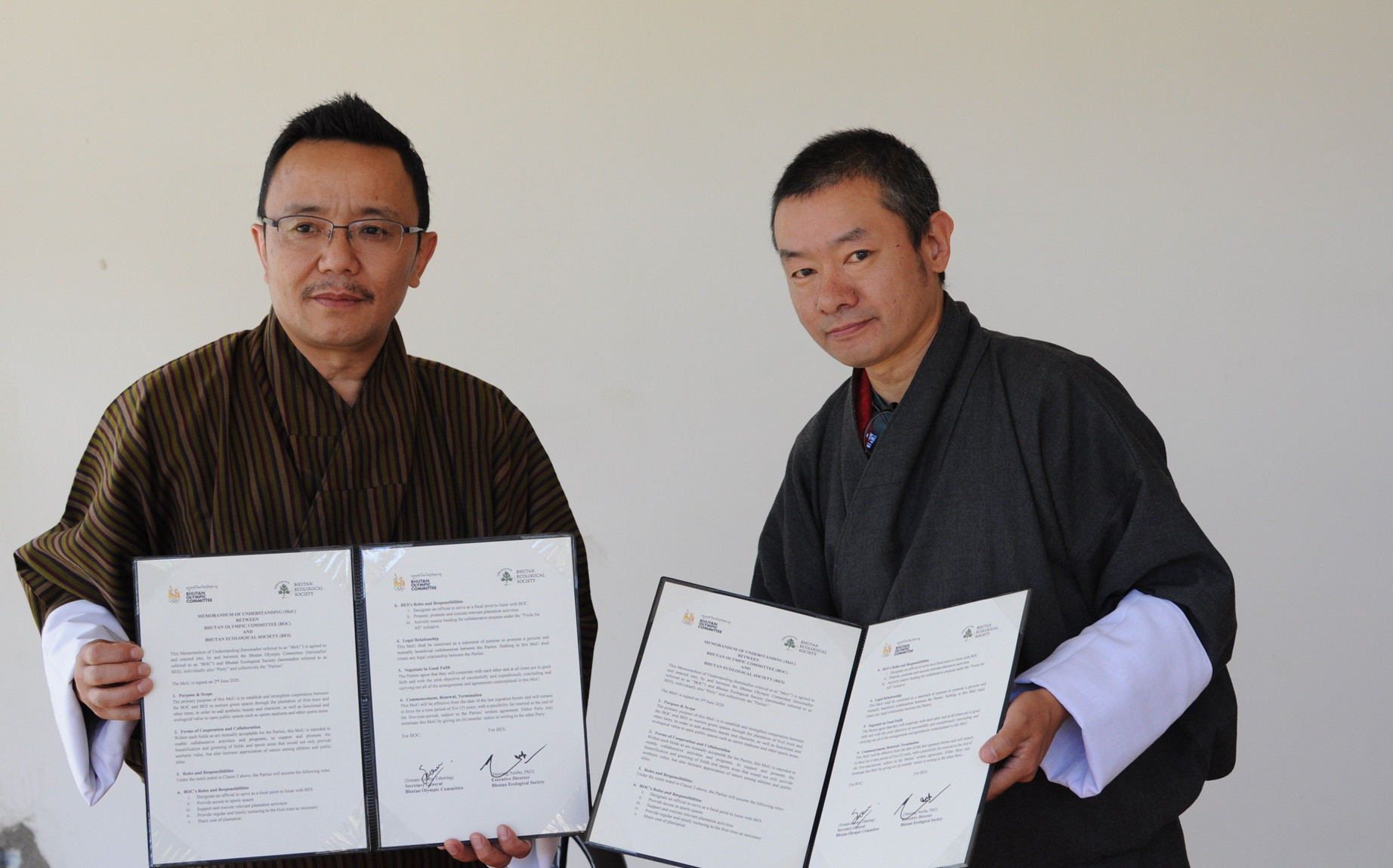 Bhutan Olympic Committee signs Memorandum of Understanding to beautify sporting venues