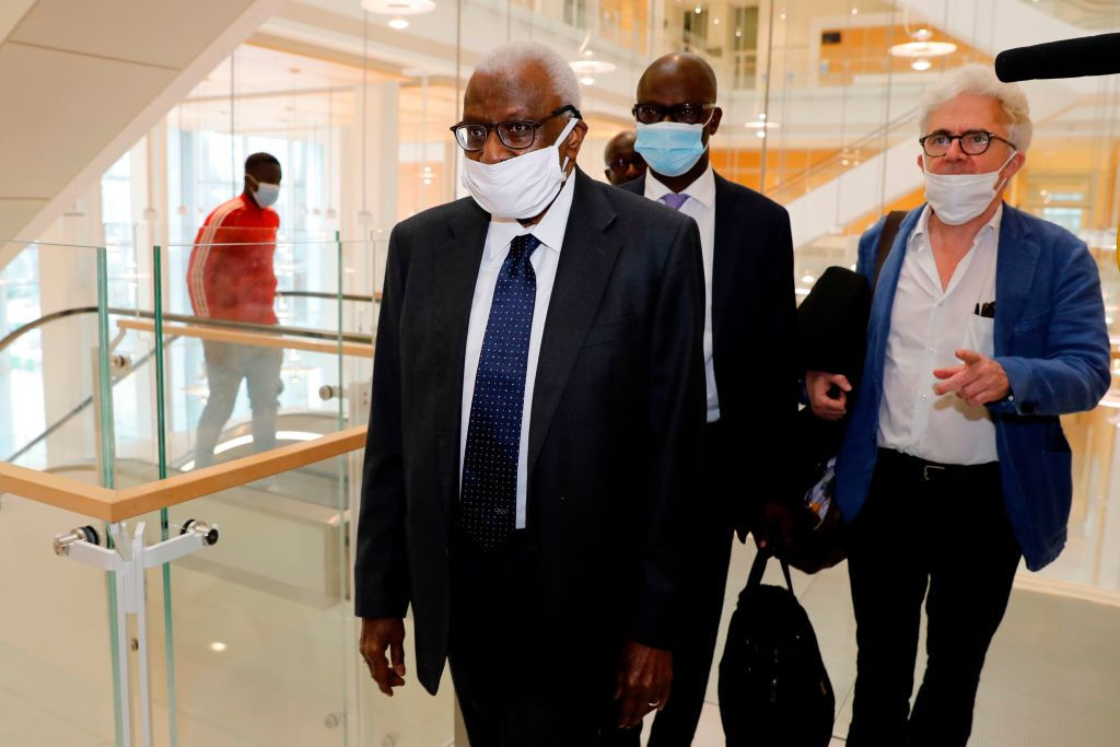 Lamine Diack appeared in court for the start of a trial which could have far-reaching consequences for sport ©Getty Images