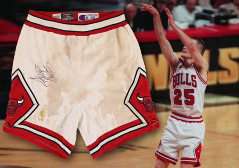 Steve Kerr's shorts are up for auction until June 19 ©Lelands 2020 Spring Classic Auction