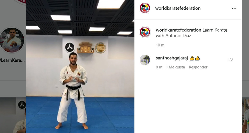 Diaz holds first WKF online training session as part of new campaign