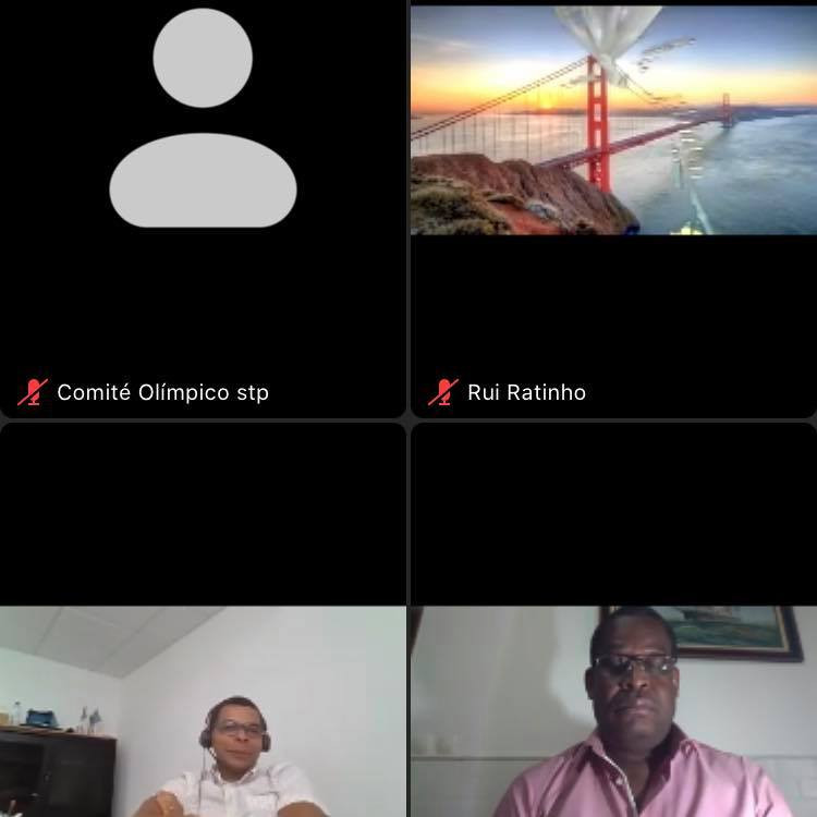 The video conference included various sporting officials from the country ©COSTP
