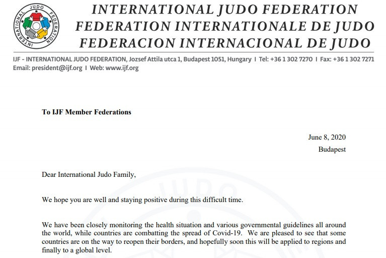 IJF President Marius Vizer has updated national federations on the impact of COVID-19 on judo events ©IJF