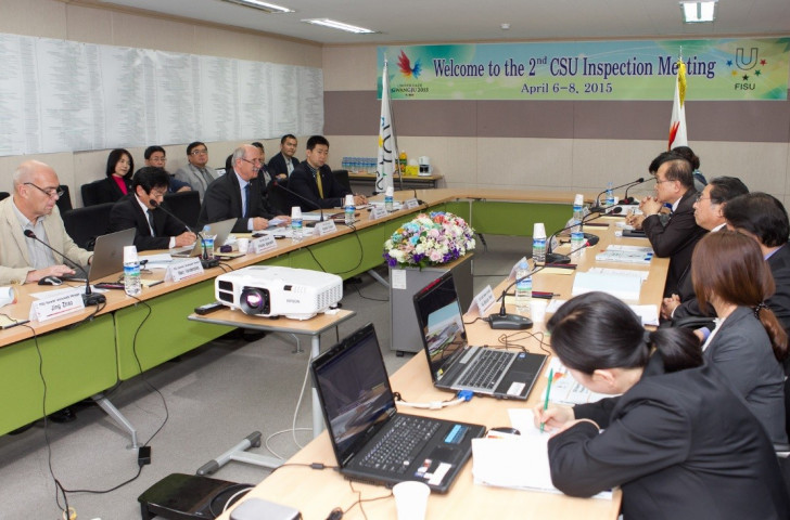 The CSU were particularly impressed with some of the venues for the Gwangju 2015 Summer Universiade during their recent meeting