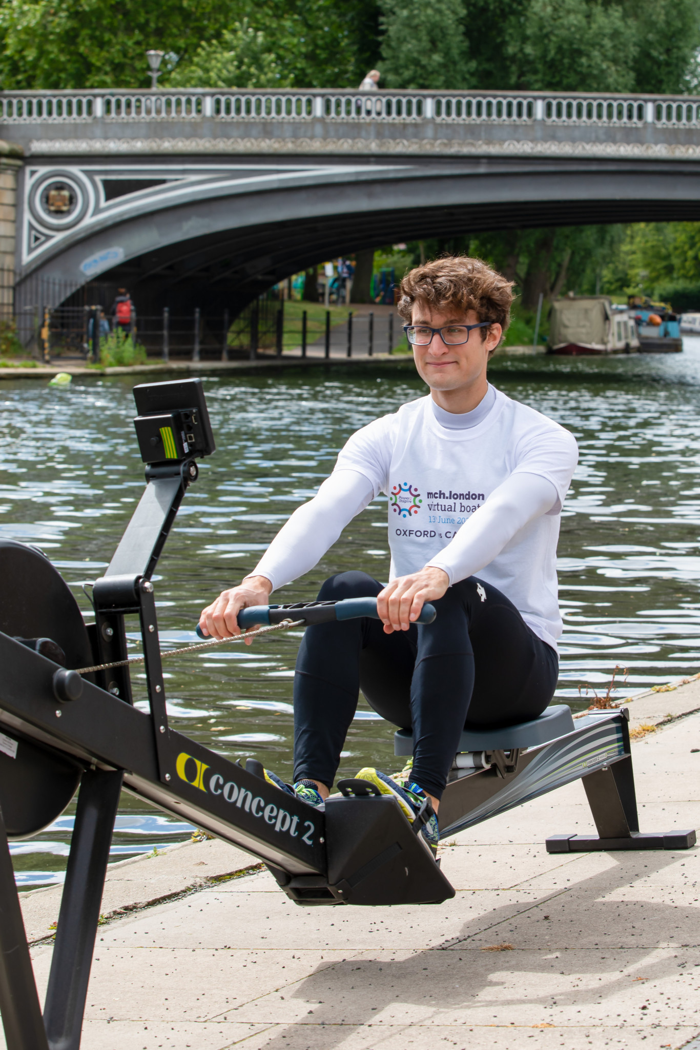 Cambridge crew member Freddie Markanday trains ahead of this weekend's virtual boat race ©Team Ginger May