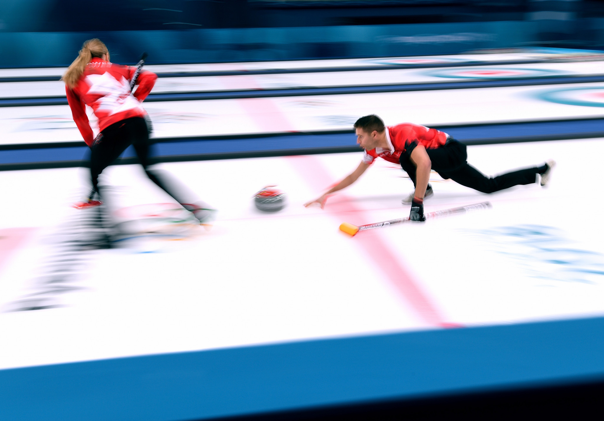 Mixed doubles curling made its Olympic debut at Pyeongchang 2018 ©Getty Images