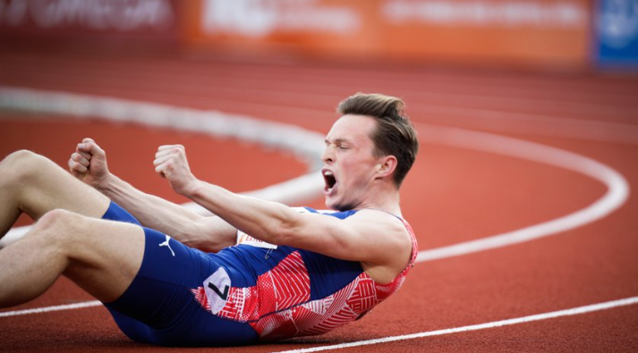 Warholm sets world 300m hurdles best at Oslo's Impossible Games
