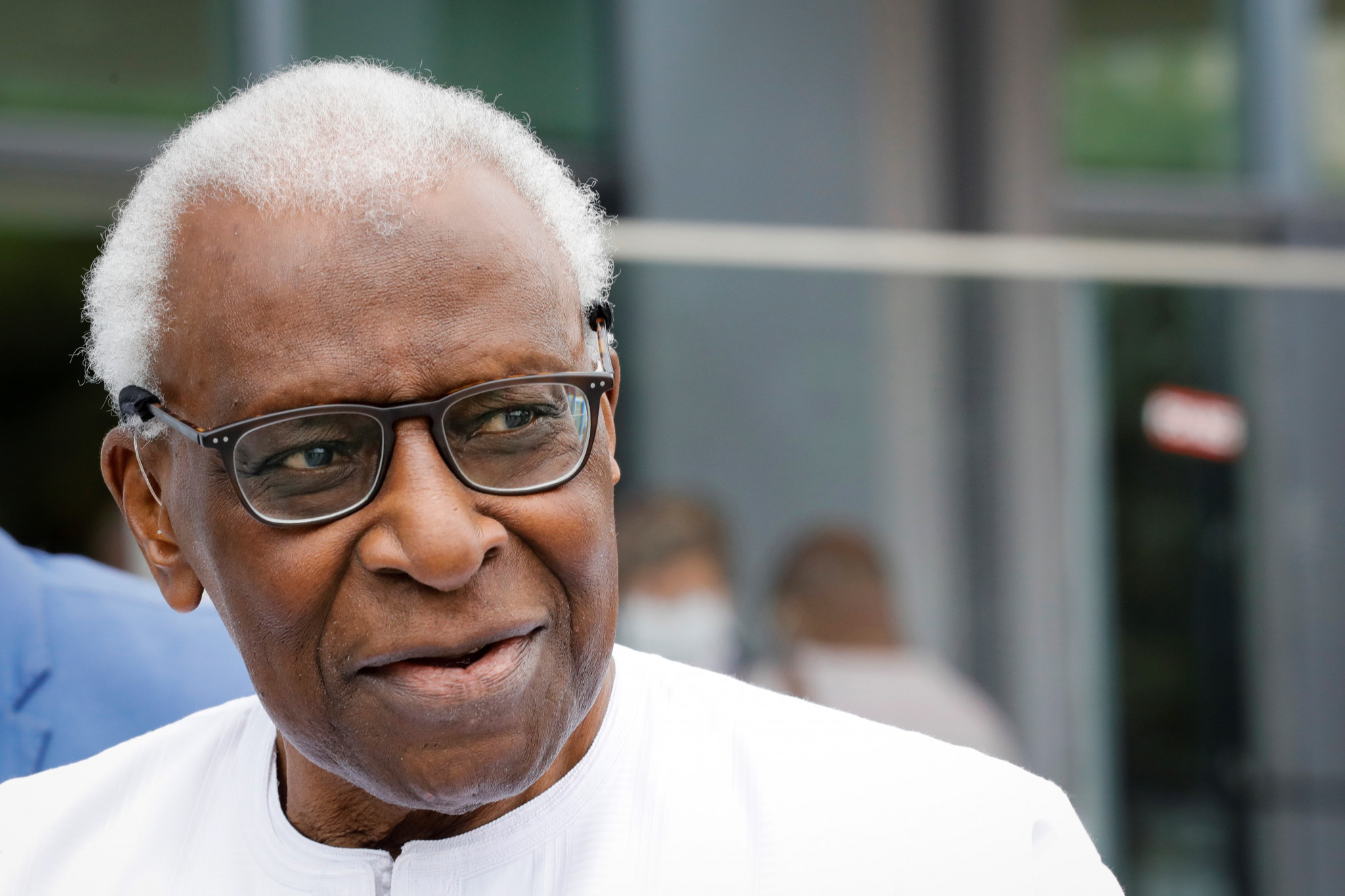 Lamine Diack gave disjointed answers during his appearance in court as part of his corruption trial ©Getty Images