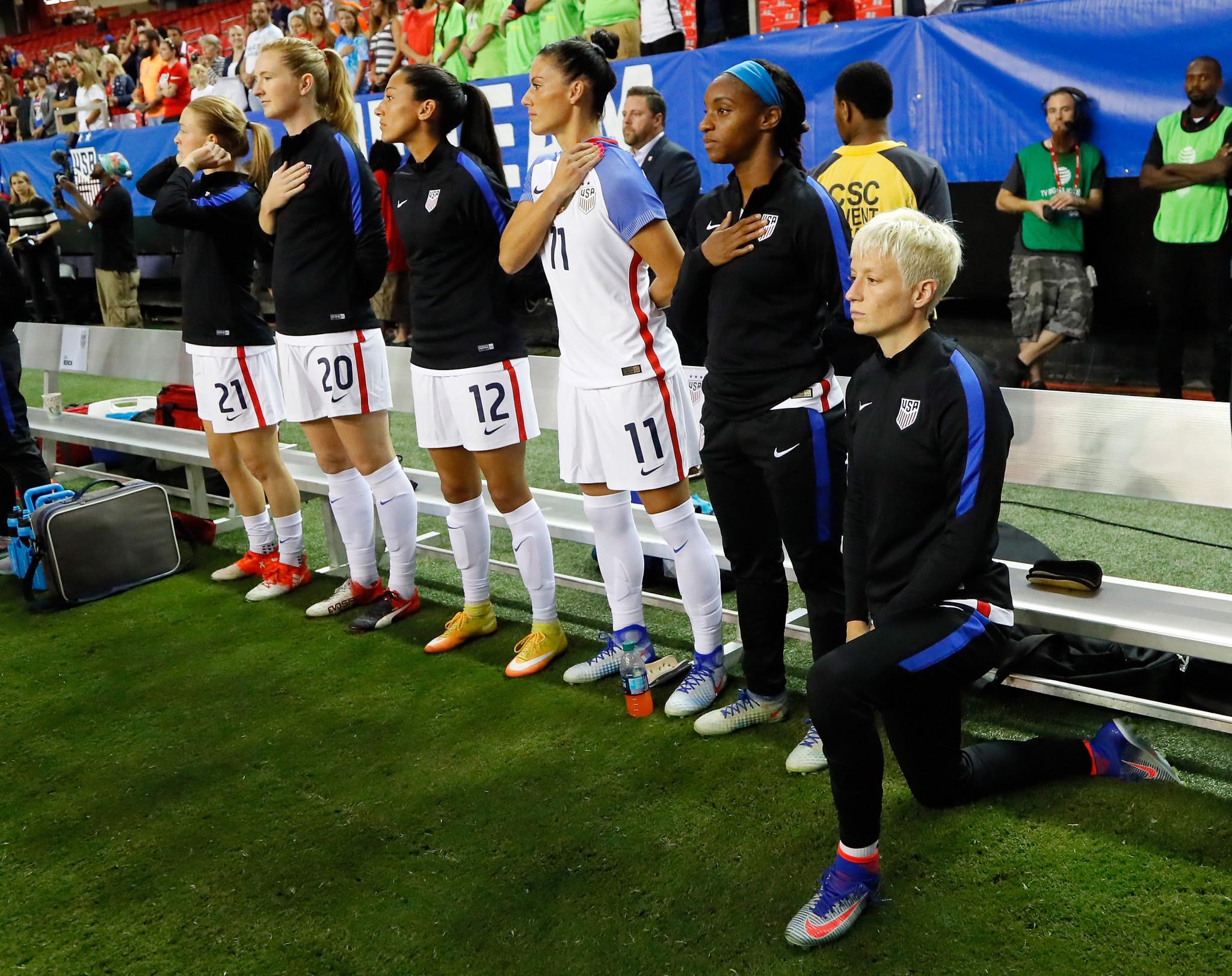 US Soccer backtracks on rule banning kneeling during national anthem