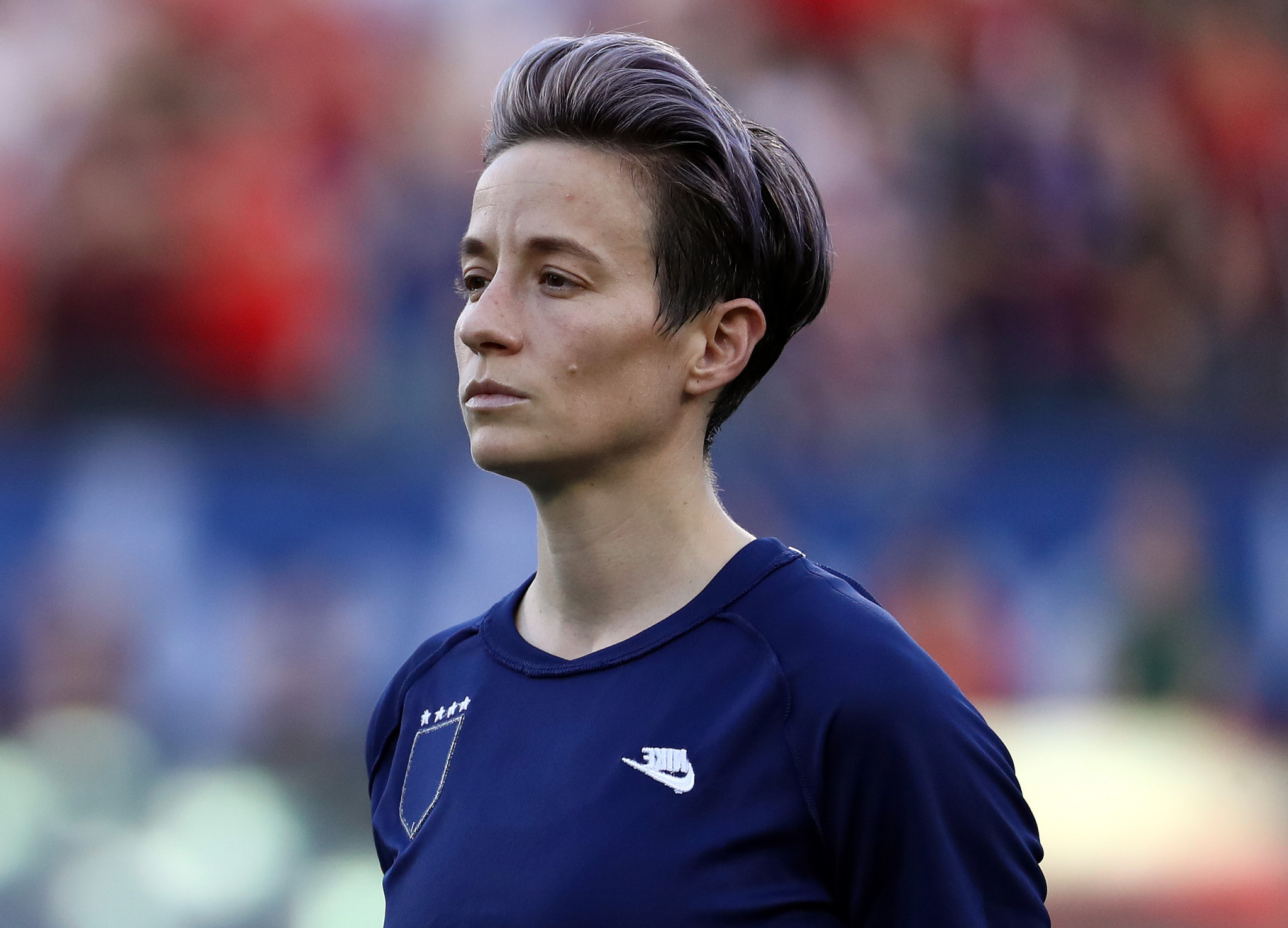Megan Rapinoe is among the signatories of a letter calling for events to be removed from Idaho ©Getty Images