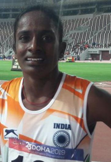 Asian 800 metres champion Gomathi Marimuthu has received a four-year ban after testing positive for the anabolic steroid nandrolone in four separate samples ©Twitter