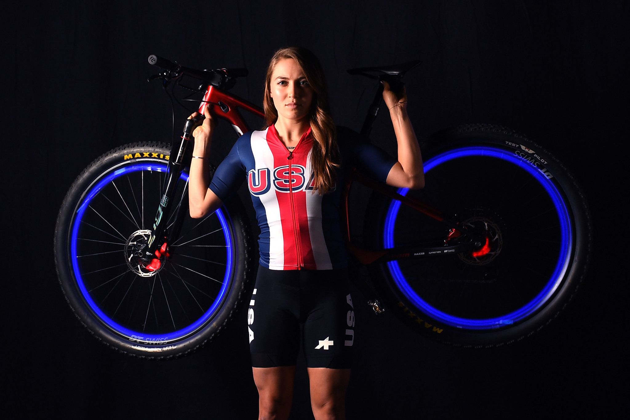 Kate Courtney is assured of competing in the women's mountain bike event ©Getty Images