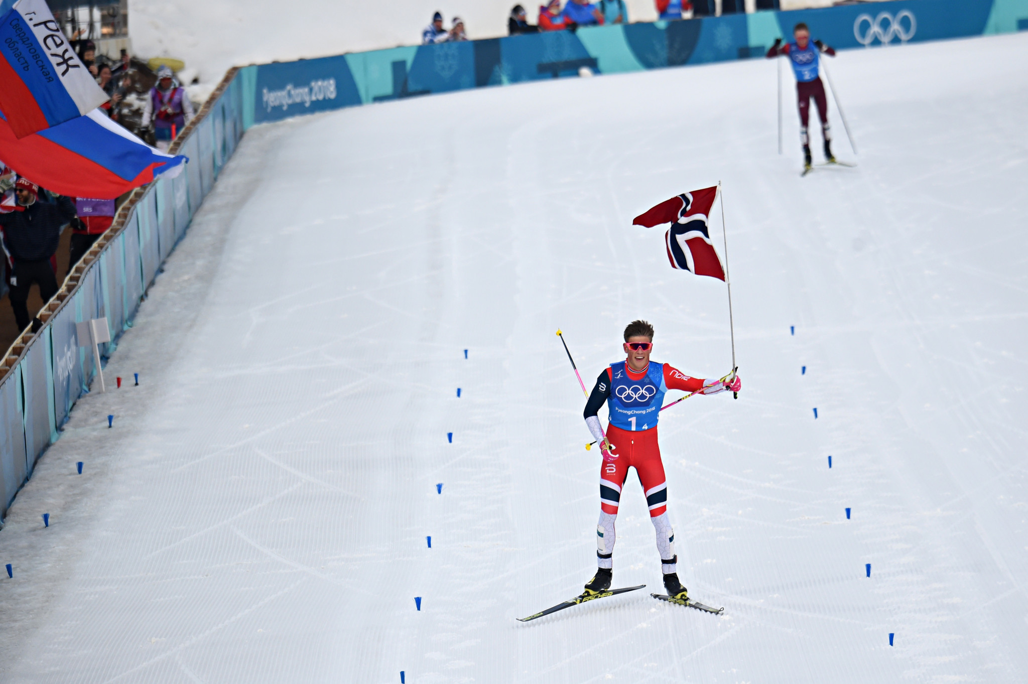 Johannes Høsflot Klæbo was a triple Winter Olympic champion at Pyeongchang 2018 ©Getty Images