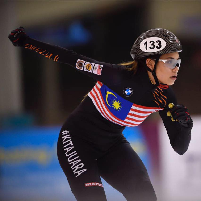 Malaysian short track speed skater recovering from coronavirus