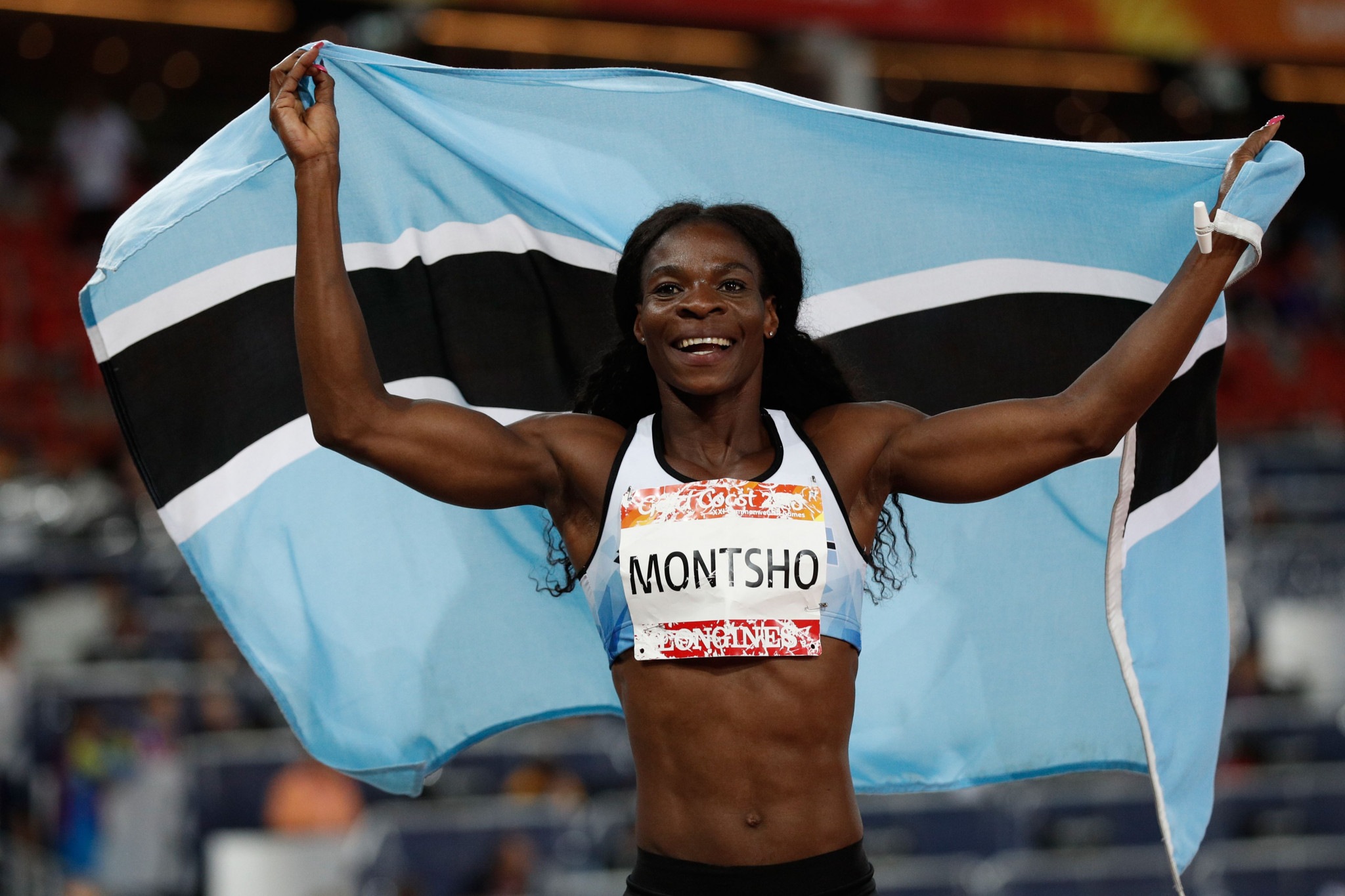 Two-time Commonwealth Games champion Amantle Montsho served a two-year drugs ban ©Getty Images