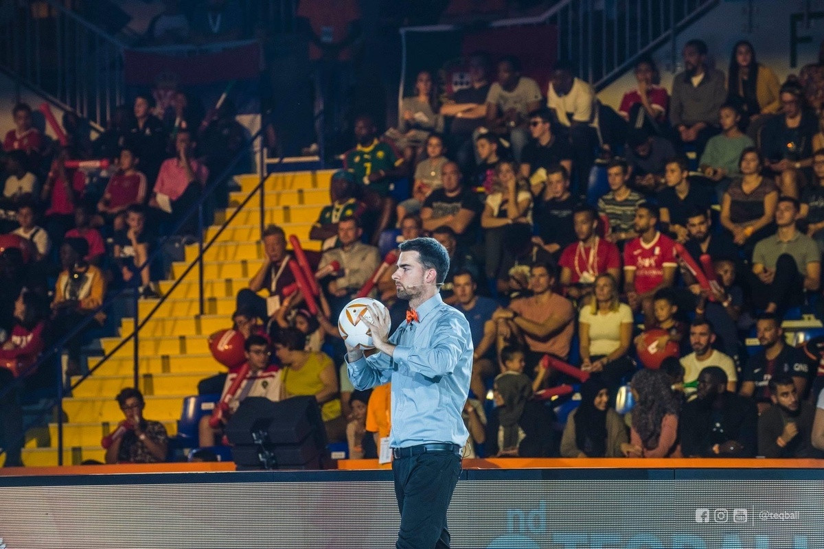 Teqball referee Martin Gorman discussed his experiences of officiating at the 2018 and 2019 Teqball World Championships ©FITEQ