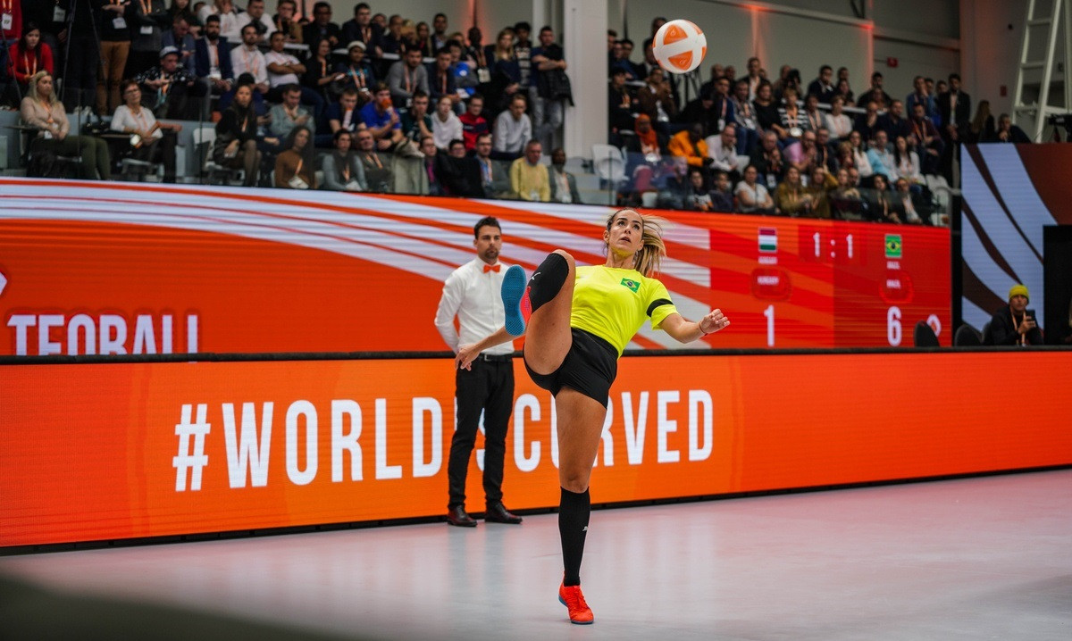 Martin Gorman was the referee for the finals of both the 2018 and 2019 World Teqball Championships ©FITEQ