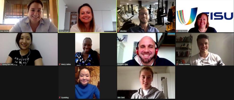 FISU Student Committee holds virtual meeting