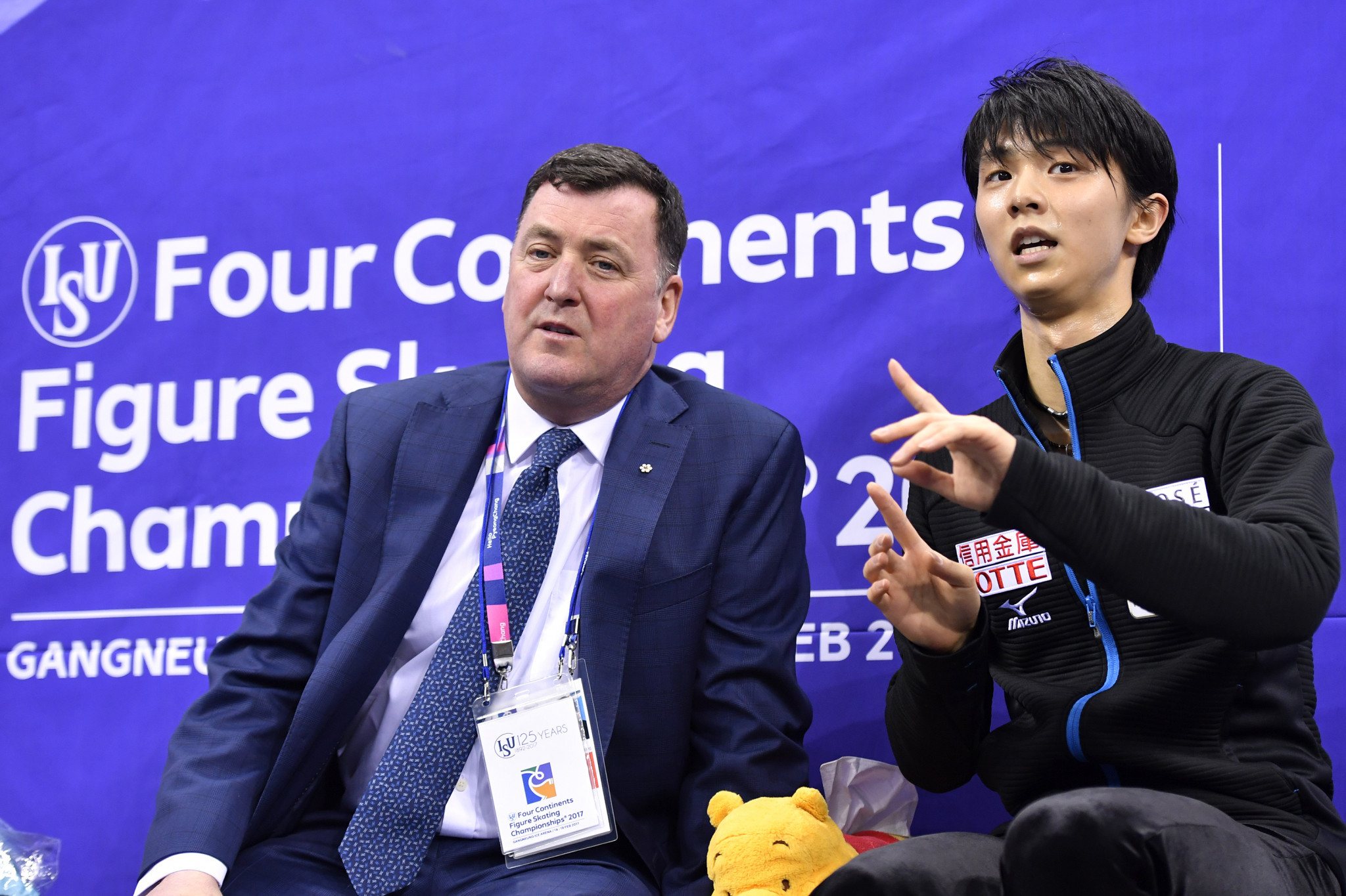 Brian Orser, left, has coached Yuzuru Hanyu, right, to back-to-back Olympic gold medals ©Getty Images