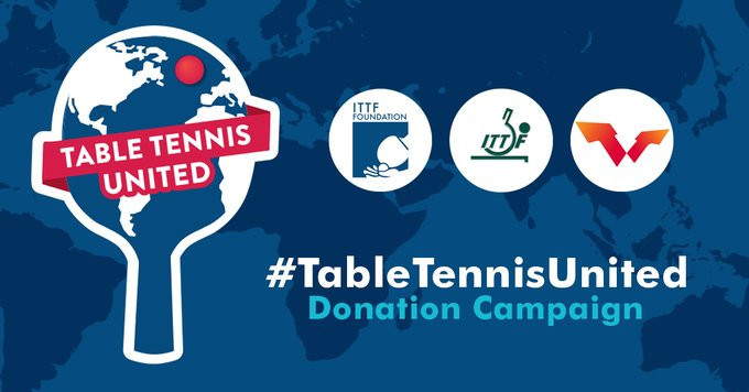 The ITTF Foundation launched the #TableTennisUnited fundraising campaign for athletes, coaches, umpires, national associations and projects affected by the pandemic ©ITTF