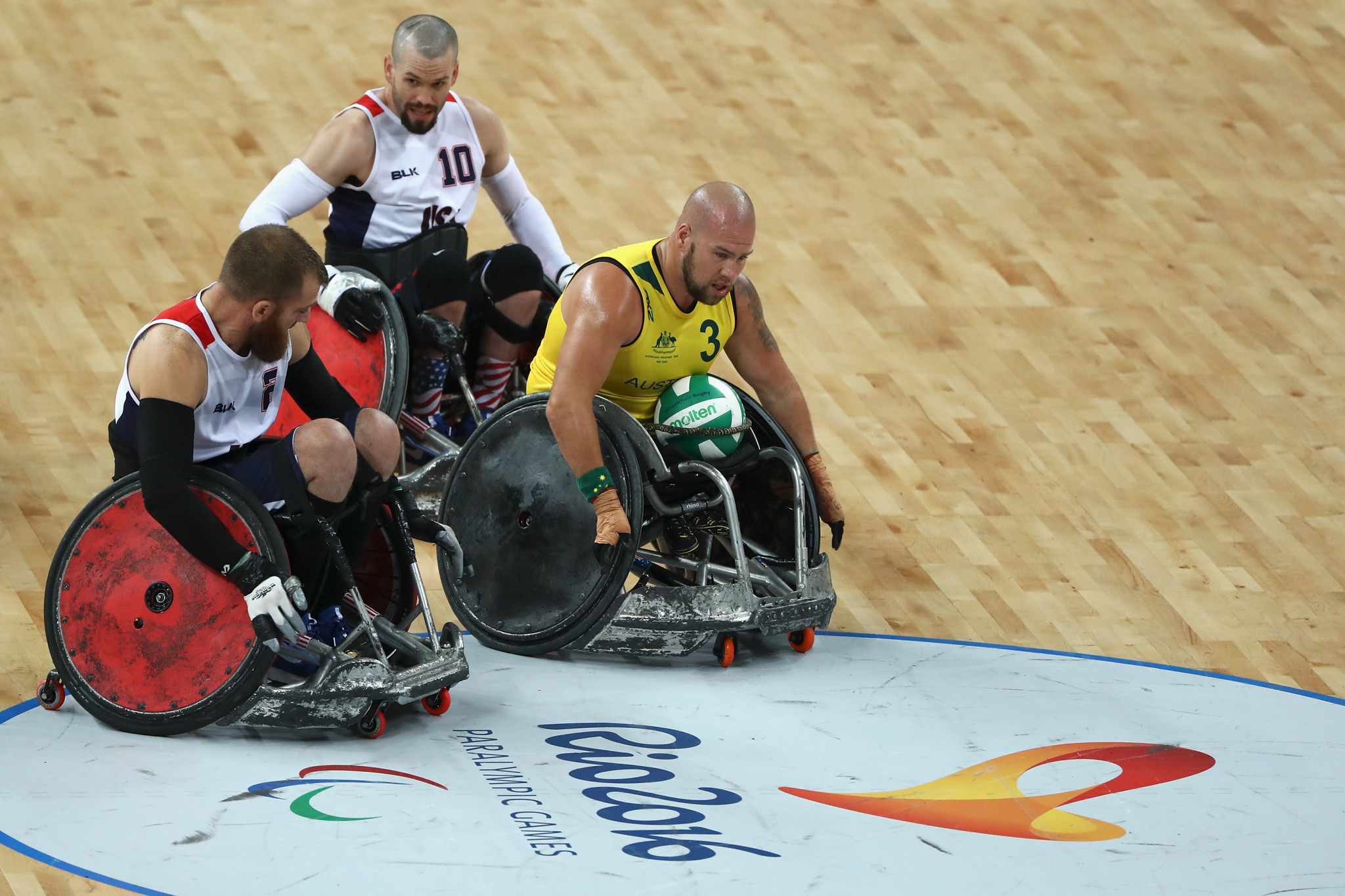 The winner of the wheelchair rugby contest at the Paralympics will no longer automatically qualify for the World Championships ©Getty Images