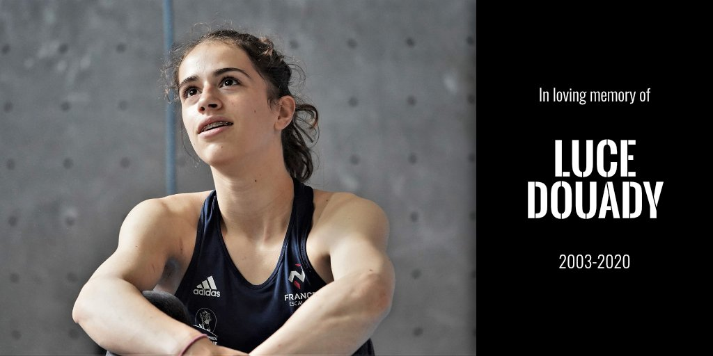 The IFSC described Luce Douady as a brilliant and talented athlete ©IFSC