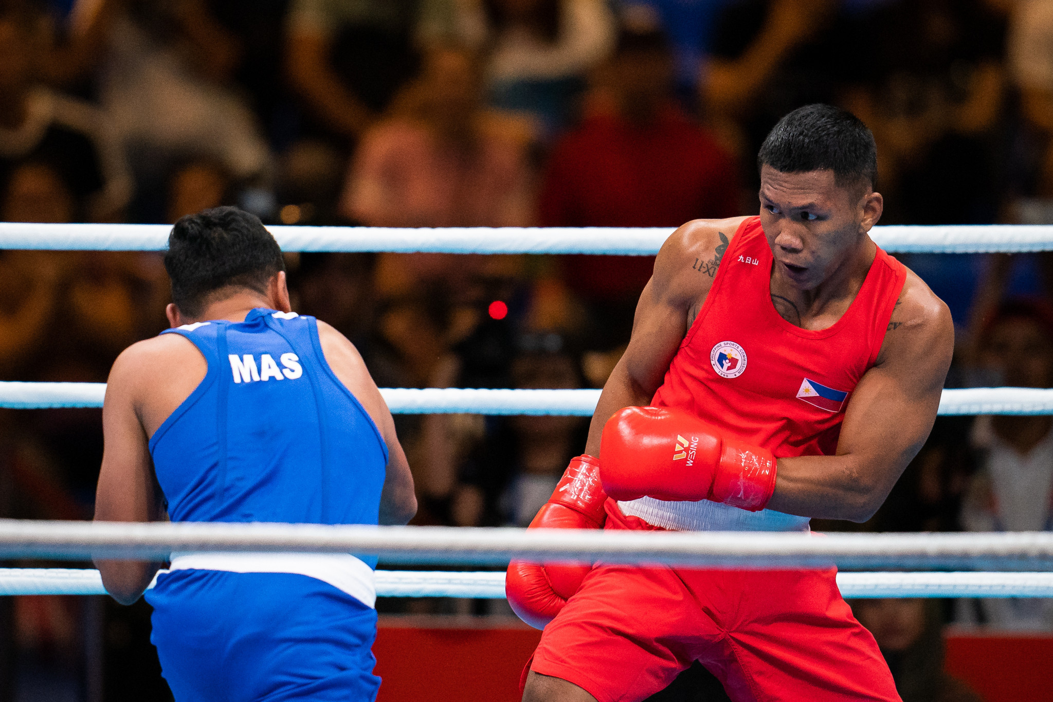 Eumir Felix Marcial, in red, is a three-time Southeast Asian Games champion ©Getty Images