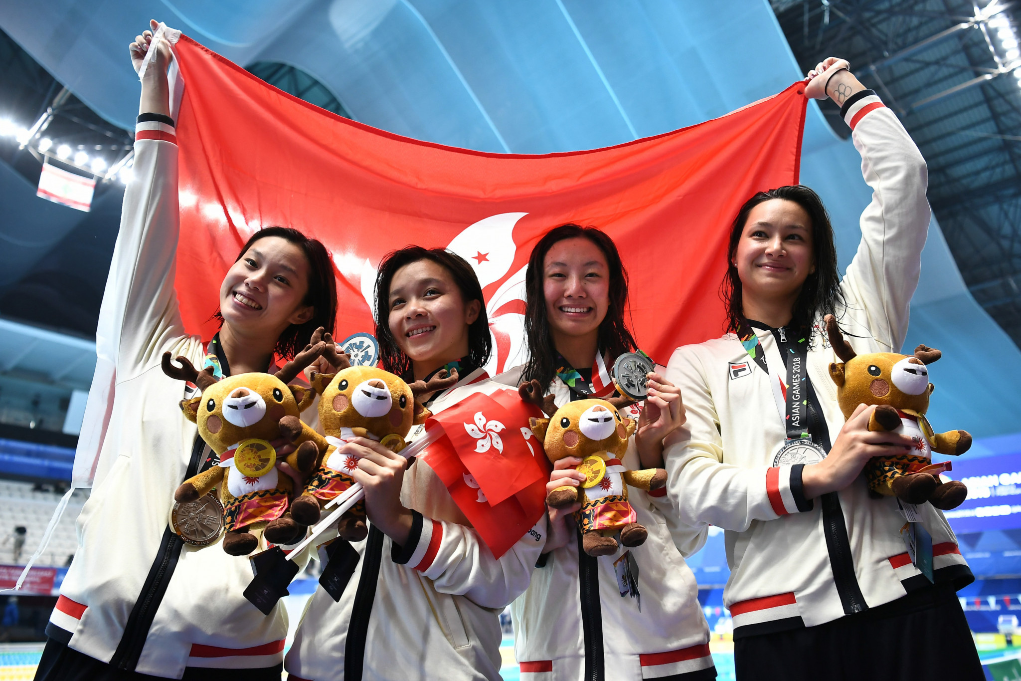 Hong Kong earned silver in the women's 4x100 metre medley relay at the 2018 Asian Games ©Getty Images