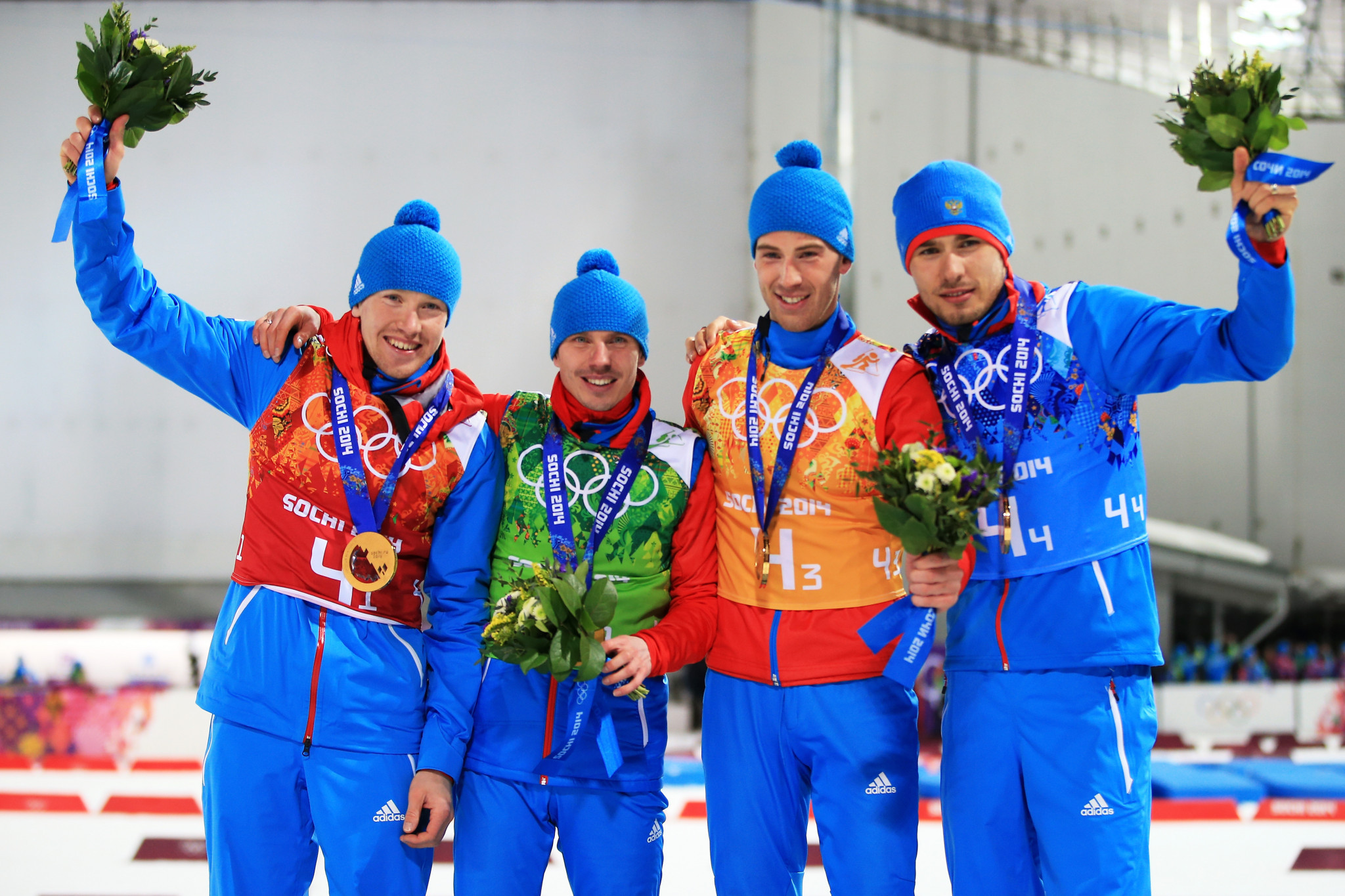 Russian's biathlon team relay champions could be stripped of their Sochi 2014 gold medal ©Getty Images