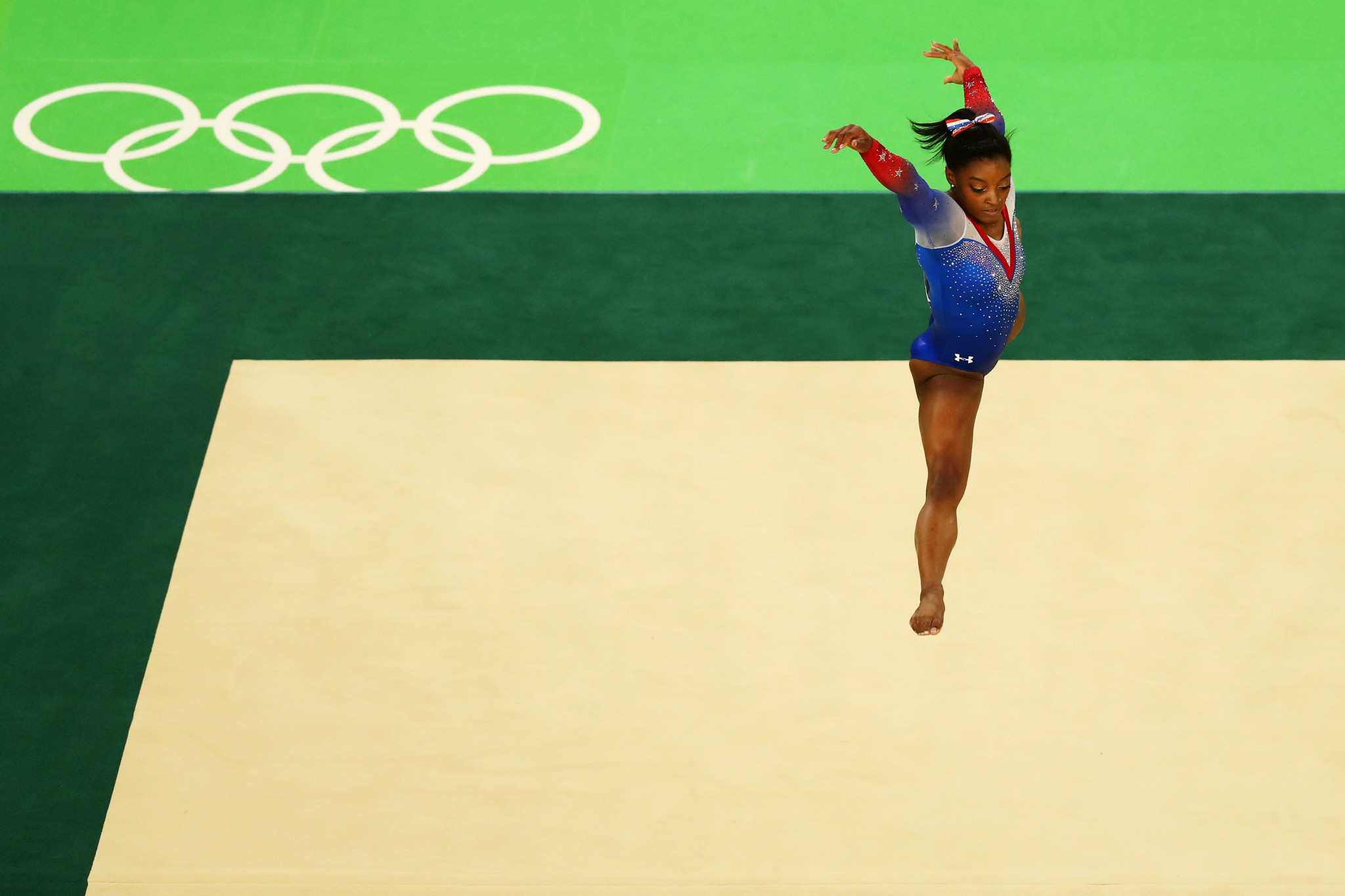 Simone Biles is a four-time Olympic gold medallist, earning all four titles at Rio 2016 ©Getty Images