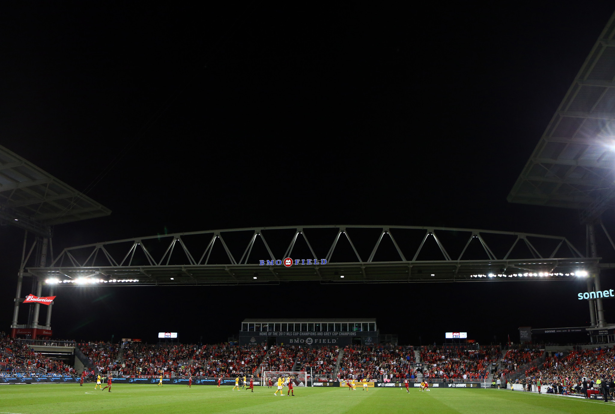 BMO Field in Toronto is among the three Canadian cities bidding to be a host venue for the 2026 FIFA World Cup that is also being co-hosted by the United States and Mexico ©Getty Images