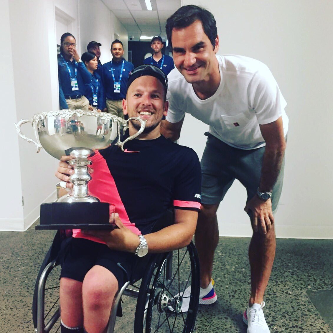 Roger Federer is among the top players backing Dylan Alcott's campaign to get wheelchair tennis back on the programme at this year's US Open in New York City ©Twitter