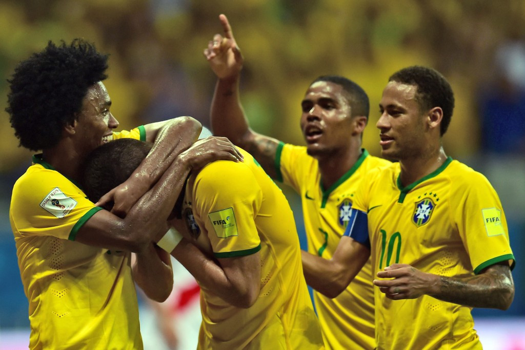 Five-times World Cup winners Brazil have been placed as top seeds in Group B for next year's tournament