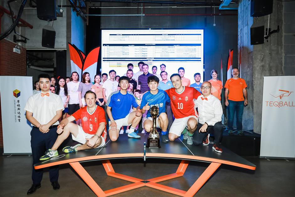The Charity Teqball Cup featured 10 teams ©SHINE