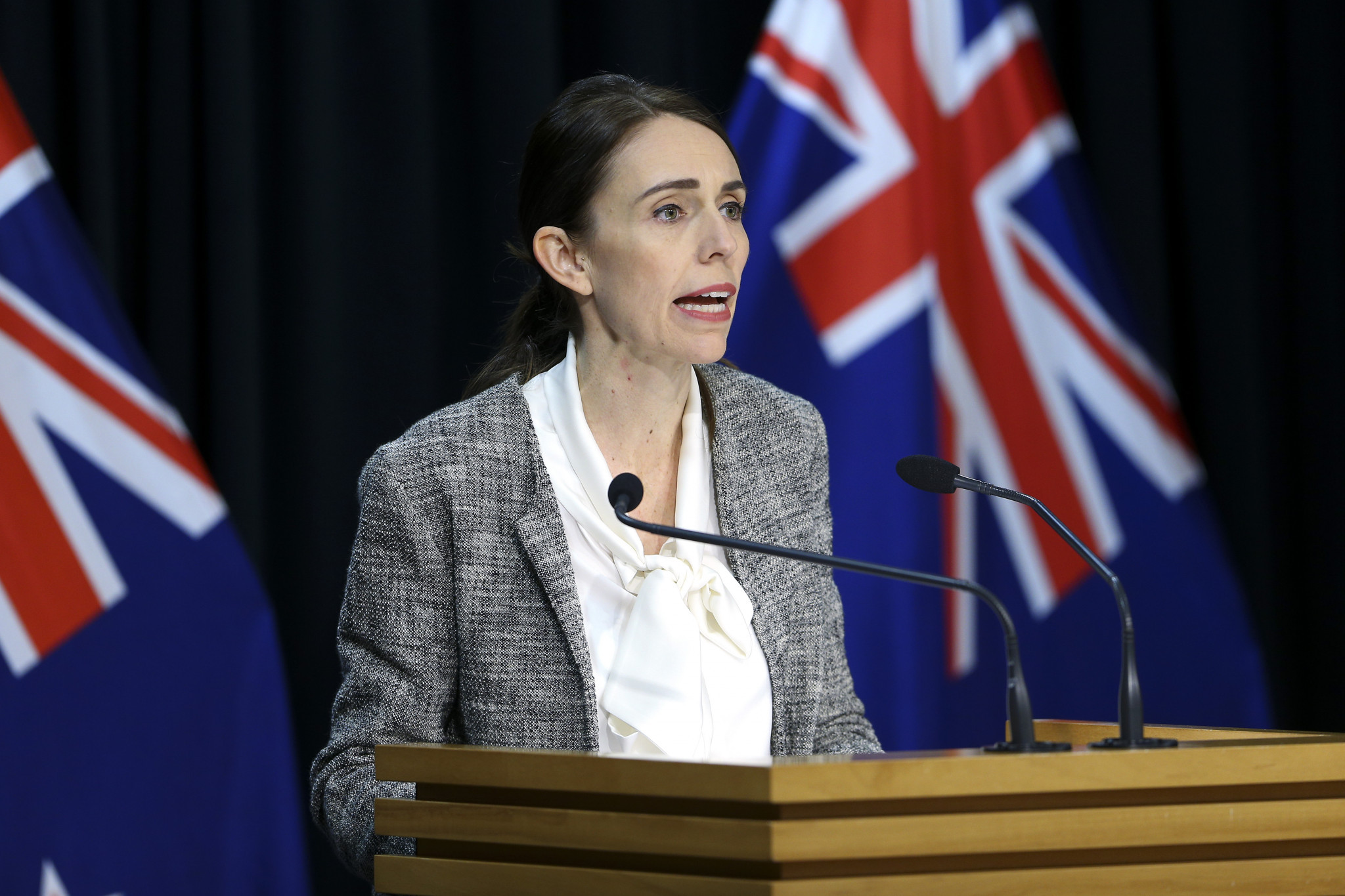 New Zealand's Prime Minister Jacinda Ardern wrote a joint letter with Australian Prime Minister Scott Morrison to the FIFA Council ©Getty Images