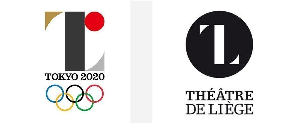 The initial logo was scrapped due to its similarity with the design for a Belgian theatre ©Tokyo 2020/Theatre de Liege