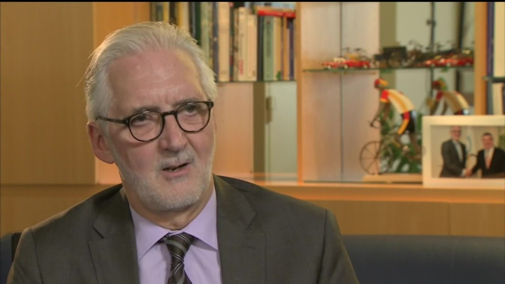 Brian Cookson had called for Hein Verbruggen to stand down as the UCI's Honorary President following publication of the CRIC report earlier this year ©YouTube