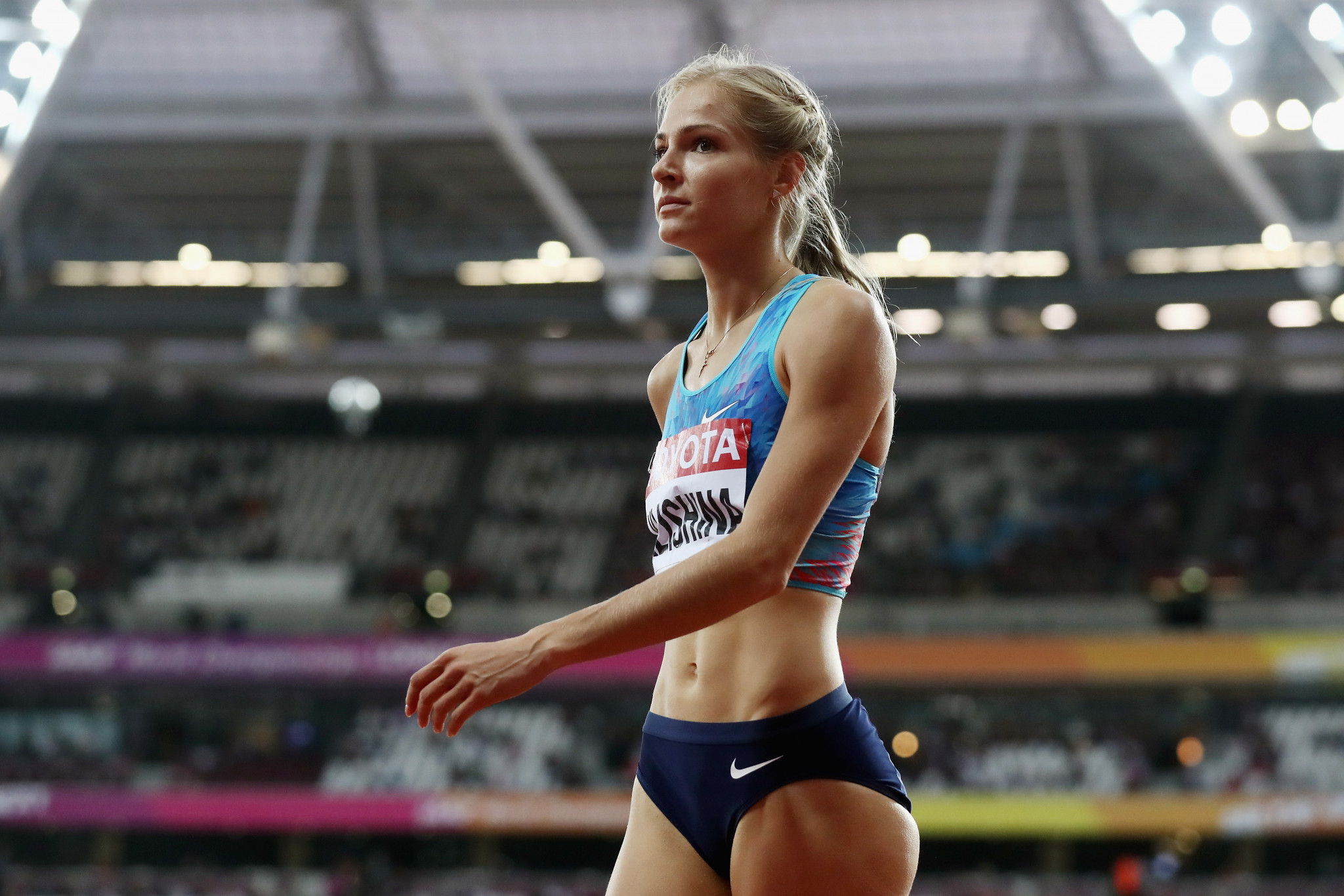 Long jumper Daria Klishina has been the only Russian athlete to represent the country in international competition over the past four years ©Getty Images