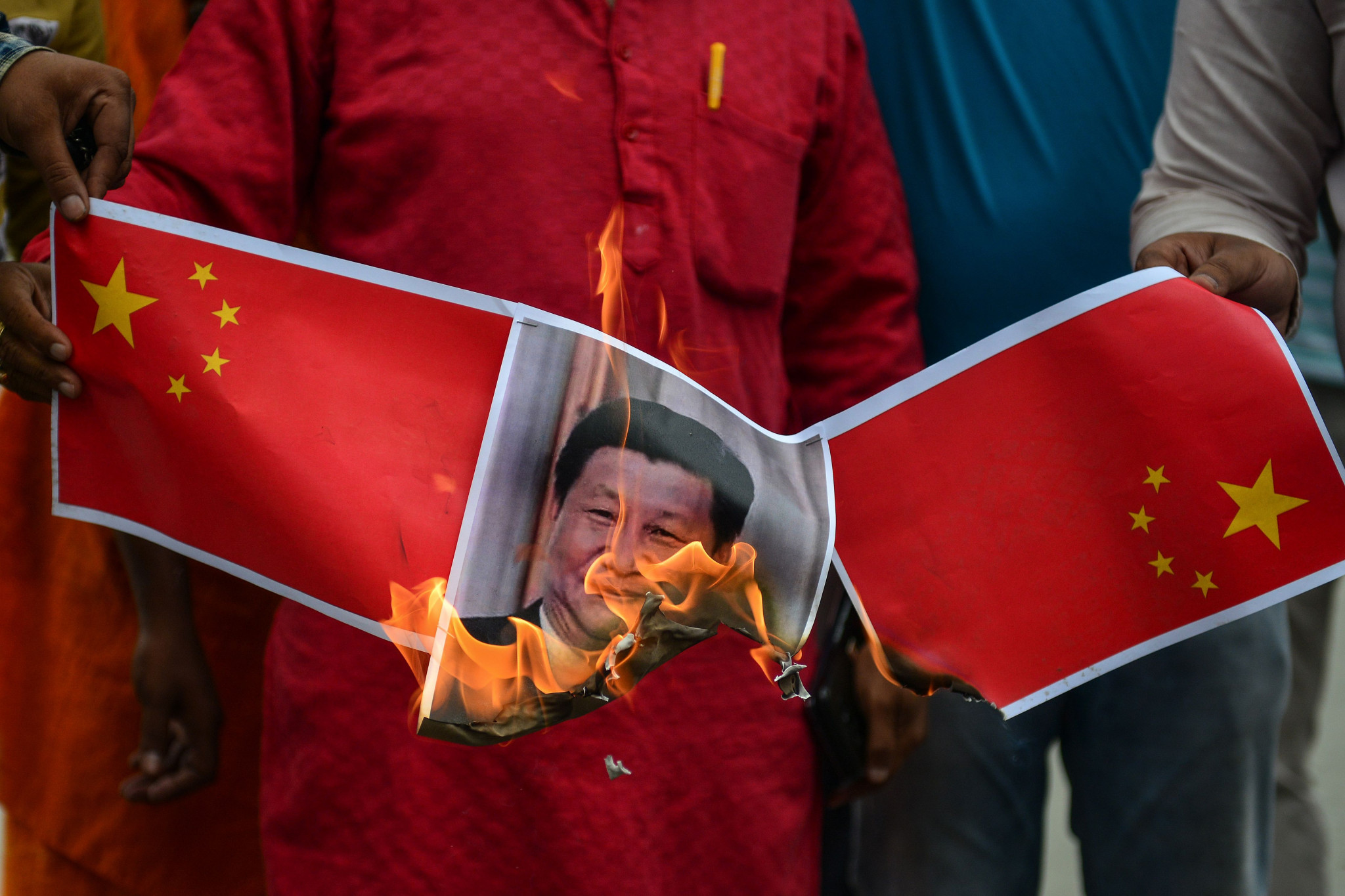 India has seen a rise in anti-China demonstrations since the conflict ©Getty Images