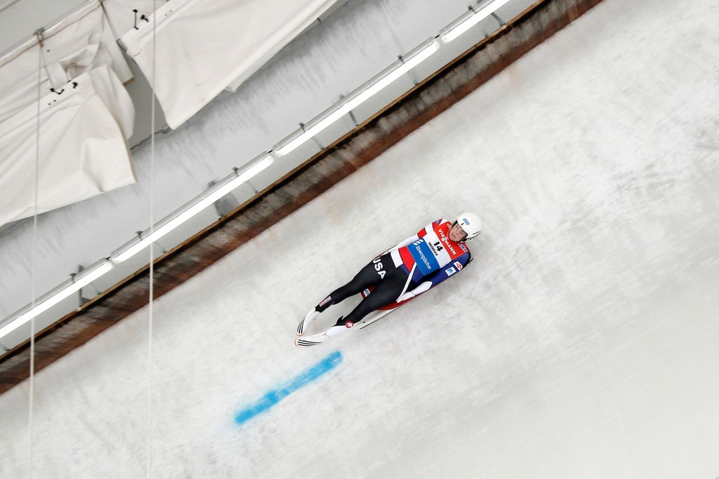 American Britcher moves to top of Luge World Cup standings after sprint victory in Calgary