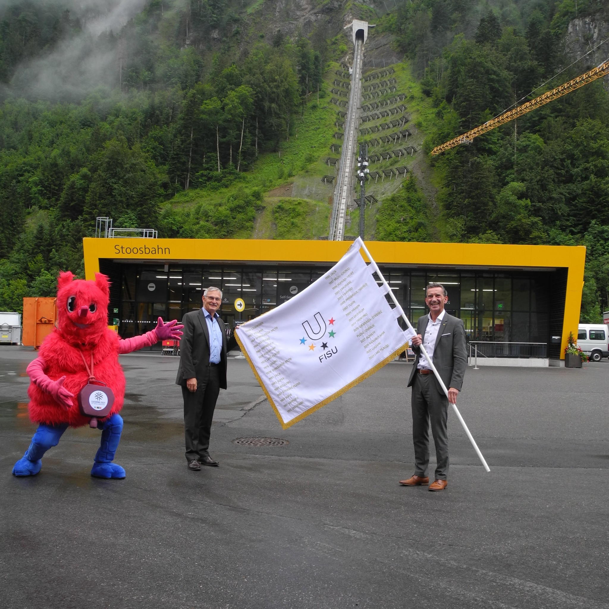 FISU flag touring Switzerland ahead of Lucerne 2021 Winter University Games