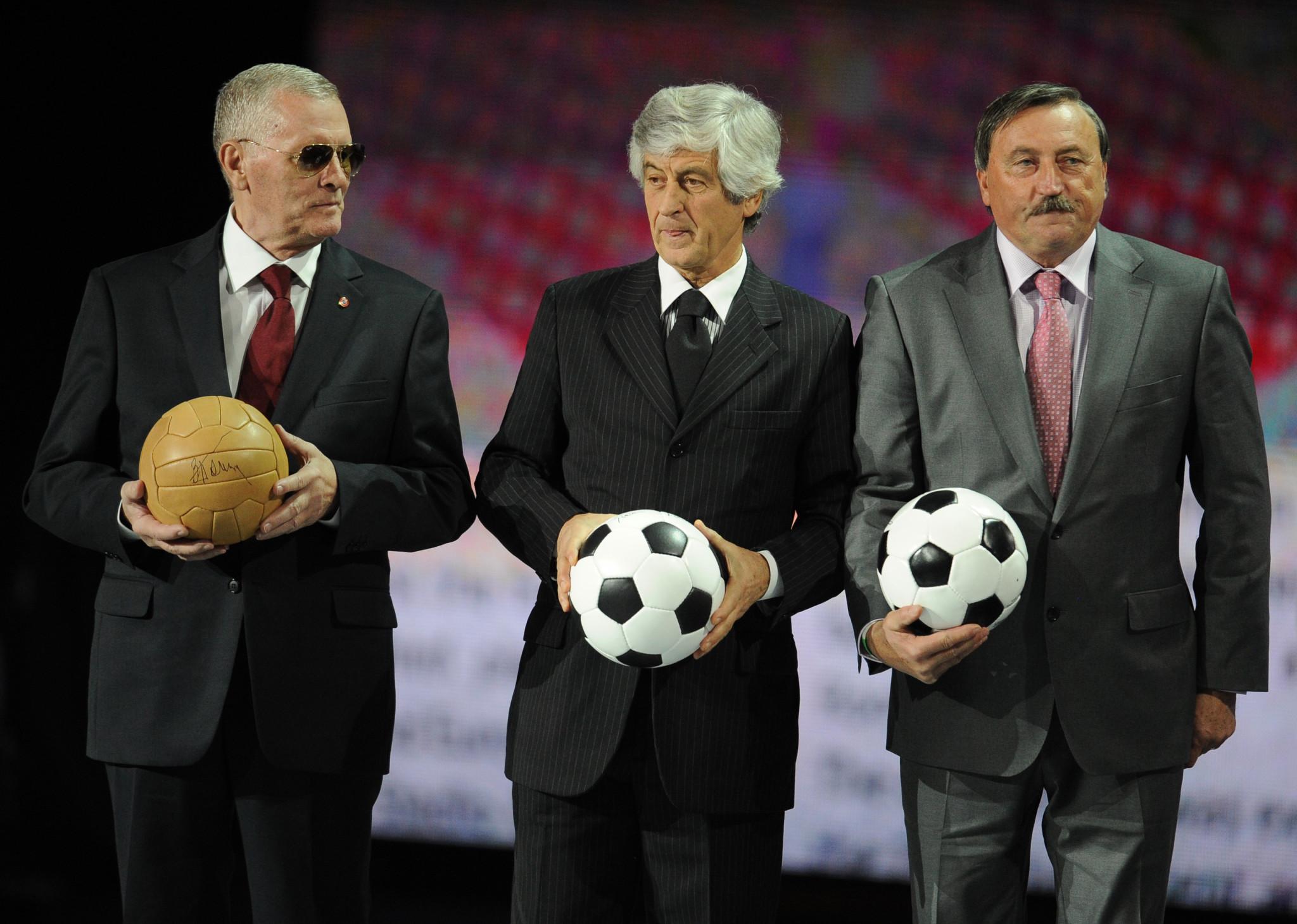 Viktor Ponedelnik, left, scored the winning goal in the final ©Getty Images
