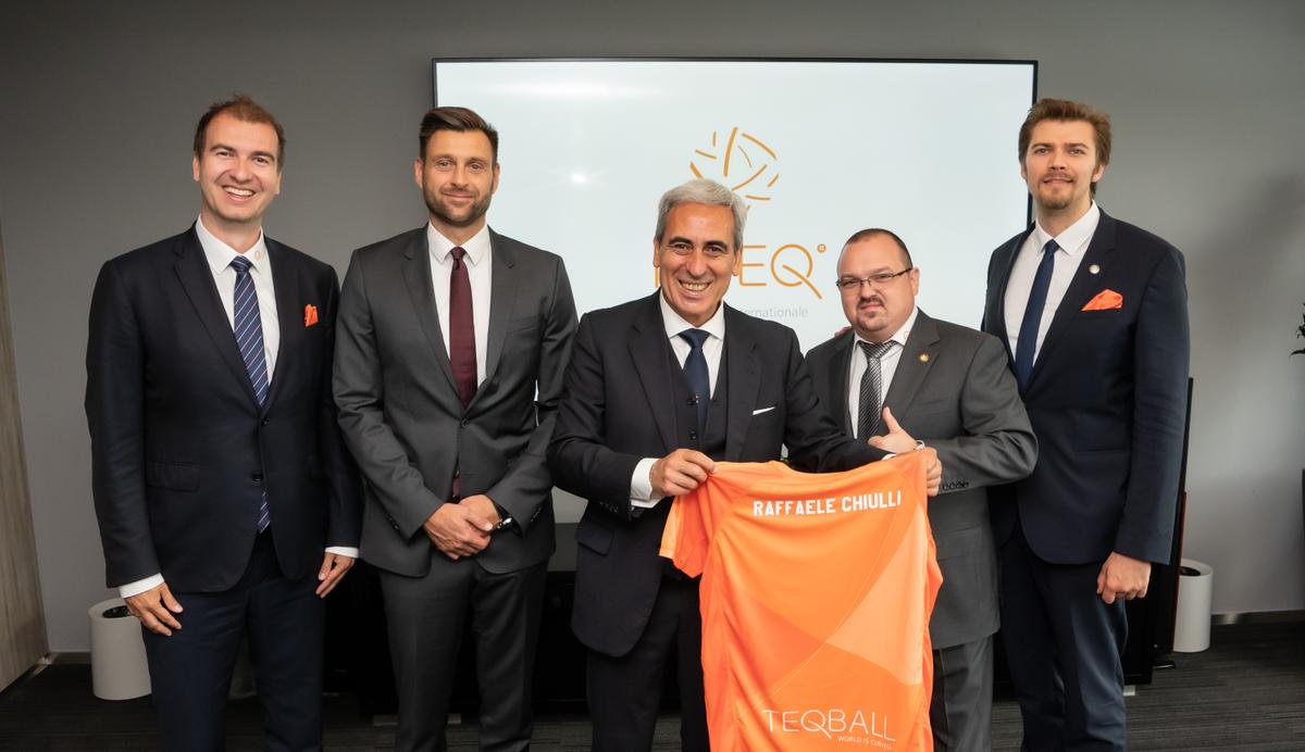 The FITEQ leadership held a progress meeting with GAISF President Raffaele Chiulli ©FITEQ