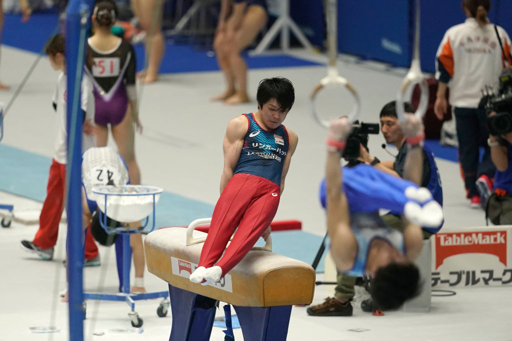 The Japanese star has switched his focus to the horizontal bar event ©Getty Images