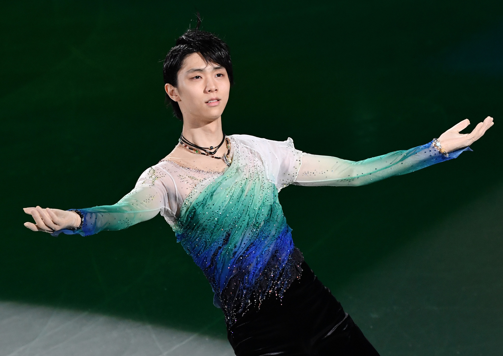 Japanese figure skating star Yuzuru Hanyu received two nominations for the inaugural International Skating Union Skating Awards ©Getty Images