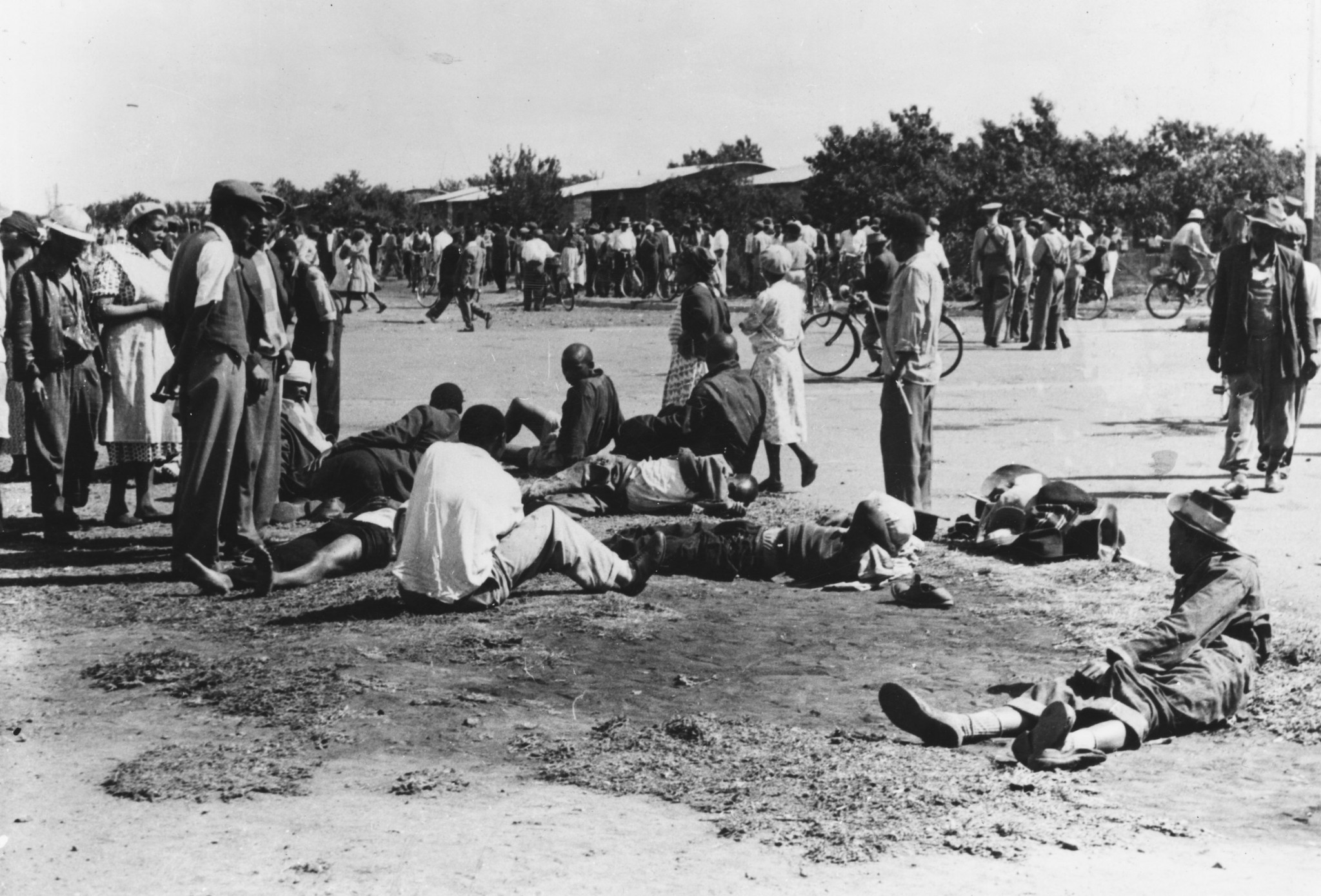 A massacre in Sharpeville in 1960 contributed to South Africa being excluded from future Olympic Games ©Getty Images