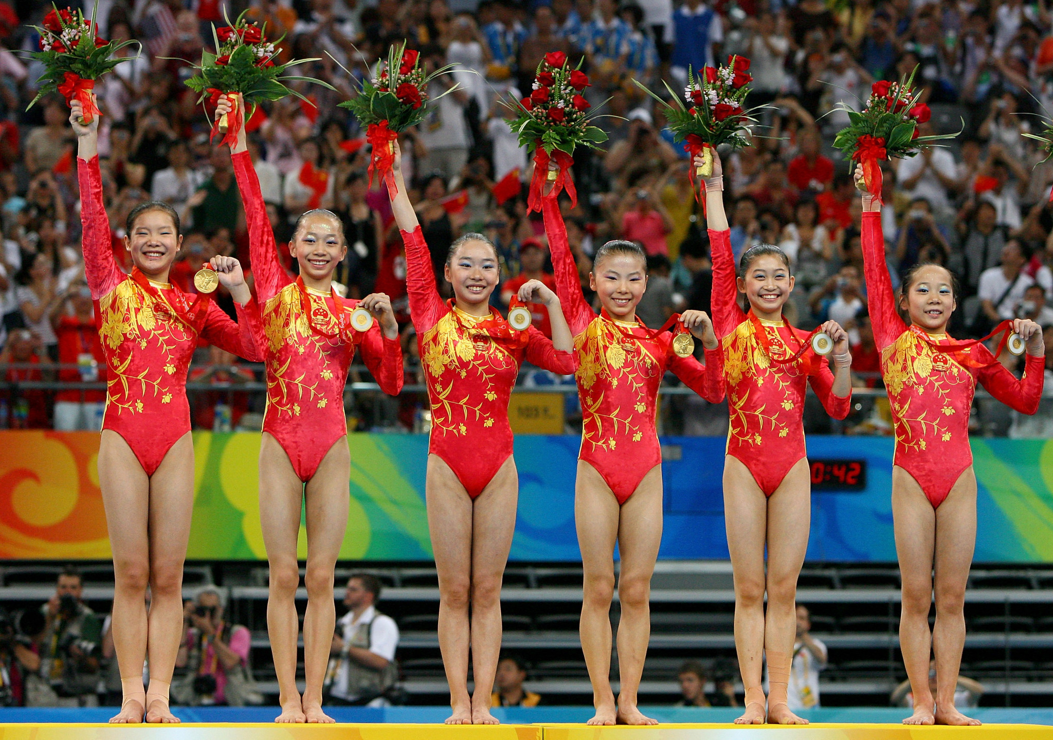 Lu Shanzhen coached China to the women's team gold at Beijing 2008, with their success overshadowed by claims some members were below the minimum age ©Getty Images