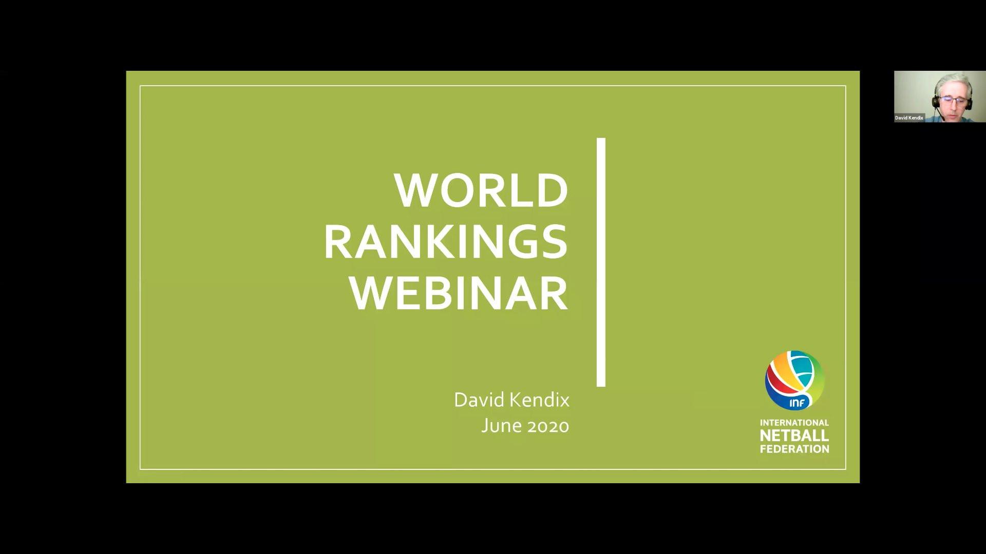 International Netball Federation host world ranking webinar