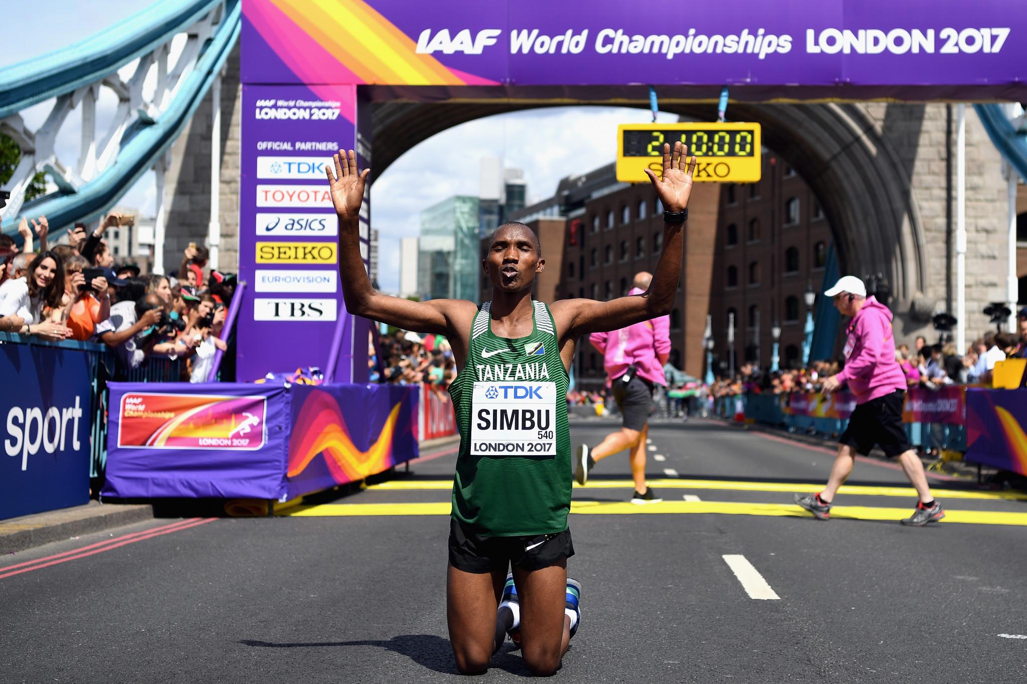 Felix Simbu won bronze in the marathon at the 2017 World Championships ©Getty Images