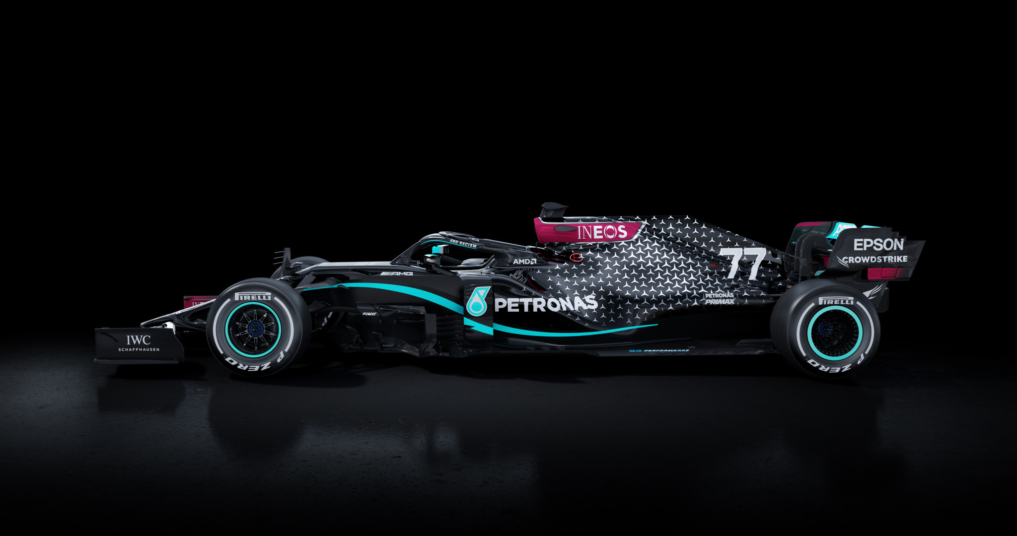 Formula One team Mercedes unveil new livery in stand against racism
